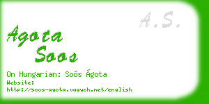 agota soos business card